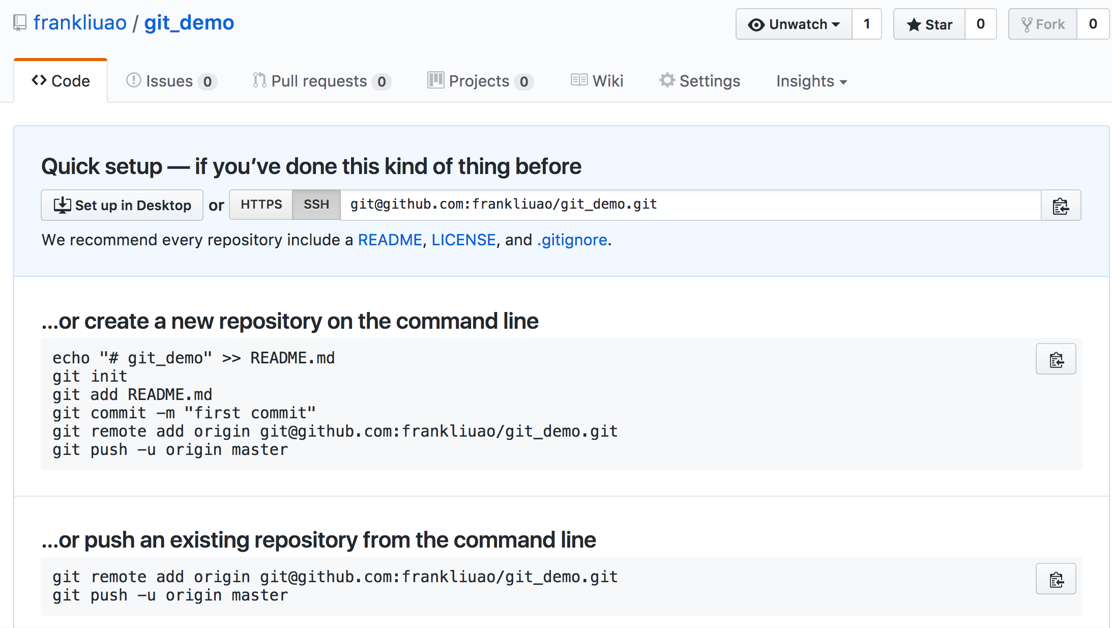 Using Github and Gitlab (2) – Use Git online – Ao's labs of